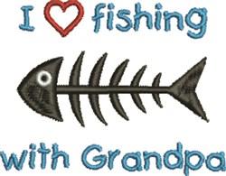 Fishing Wtih Grandpa embroidery design