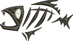 Piranha Skeleton embroidery design