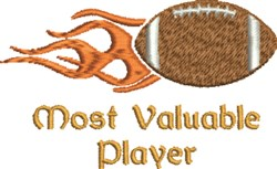Most Valuable Player embroidery design
