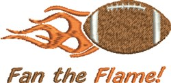 Fan The Flame embroidery design