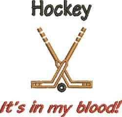 Hockey In Blood embroidery design