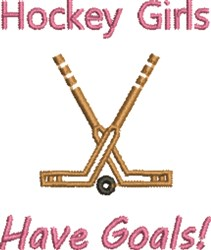 Hockey Girls embroidery design