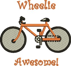 Wheelie Awesome embroidery design