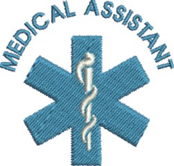 Medical Assistant embroidery design