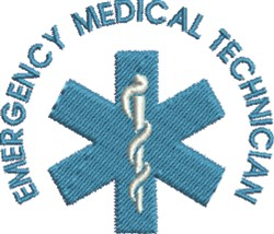 Emergency Medical Technician embroidery design