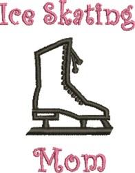Skating Mom embroidery design
