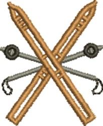 Snow Ski embroidery design