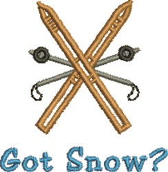 Got Snow embroidery design