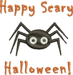 Scary Halloween embroidery design