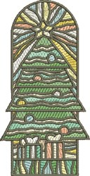 Stained Glass Tree embroidery design