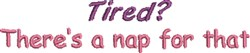 Theres A Nap embroidery design