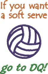 A Soft Serve embroidery design