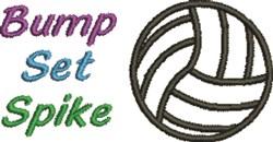 Bump Set Spike embroidery design