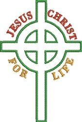 Celtic Cross For Life embroidery design