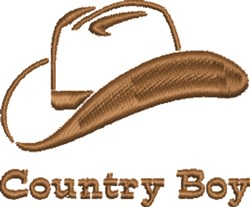 Cowboy Hat Country Boy embroidery design