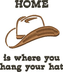Cowboy Hat Home Is... embroidery design