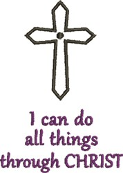 Crucifix Through Christ embroidery design