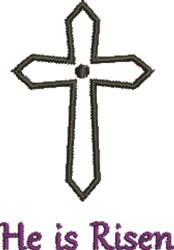 Crucifix He Is Risen embroidery design