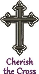 Black Bold Crucifix Cherish embroidery design