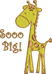 Sooo Big Baby Giraffe embroidery design