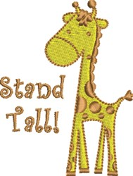 Stand Tall Baby Giraffe embroidery design