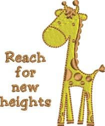 New Heights Baby Giraffe embroidery design
