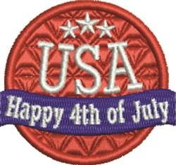 USA 4th Of July embroidery design