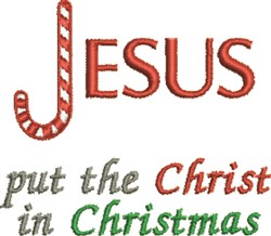 Jesus Christmas embroidery design