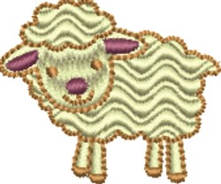 Rippled Lamb embroidery design
