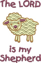 Lord Is My Shepherd embroidery design