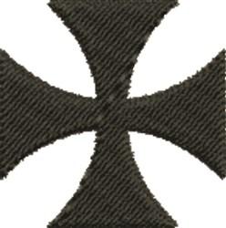 Black Maltese Cross embroidery design