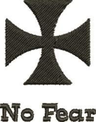 Maltese Cross No Fear embroidery design