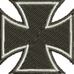 Black & White Maltese Cross embroidery design