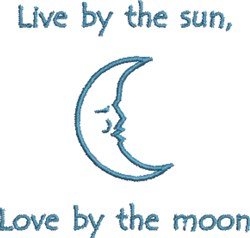 Love By The Moon embroidery design