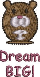 Dream Big Mouse embroidery design