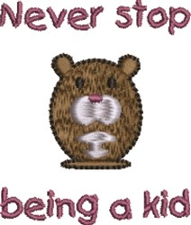 Never Stop...Cute Mouse embroidery design
