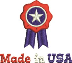 Made In USA Ribbon embroidery design