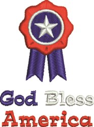 God Bless America Ribbon embroidery design