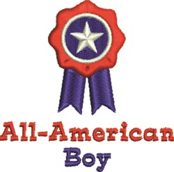 All-American Boy Ribbon embroidery design