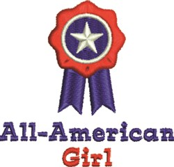 All-American Girl Ribbon embroidery design