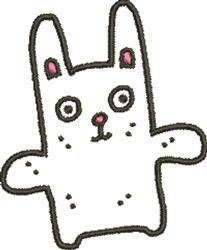 Silly Bunny embroidery design