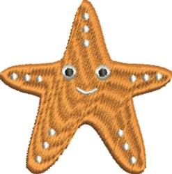 Happy Starfish embroidery design