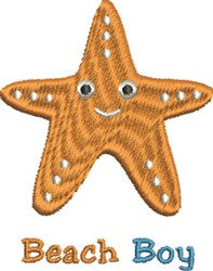 Beach Boy Starfish embroidery design