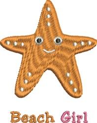 Beach Girl Starfish embroidery design
