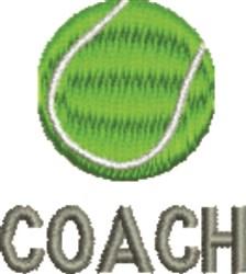Tennis Ball Coach embroidery design
