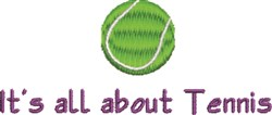 Its All About Tennis embroidery design