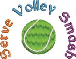 Serve Volley Smash embroidery design