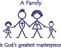Christian Family embroidery design