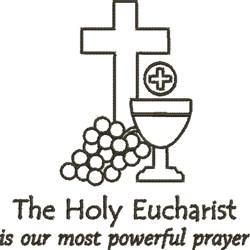 Eucharist Outline embroidery design