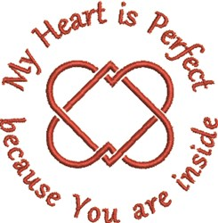 Intertwined Hearts embroidery design